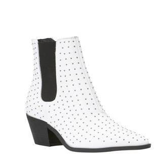 leren chelsea boots wit