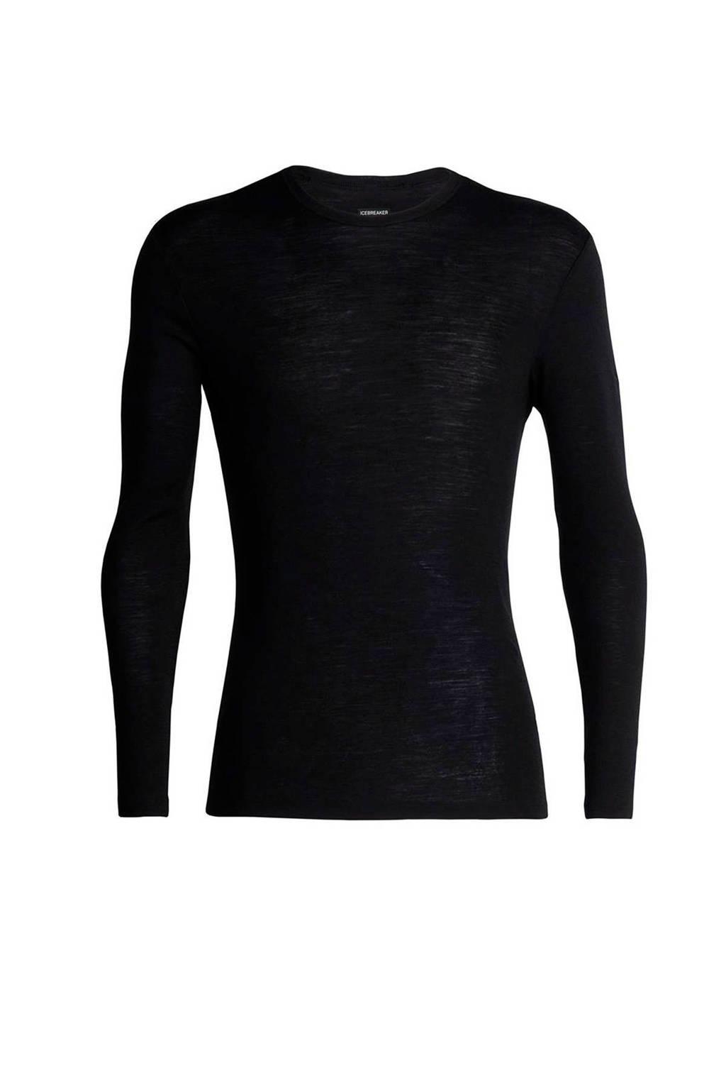 Icebreaker thermoshirt merinowol zwart, Black