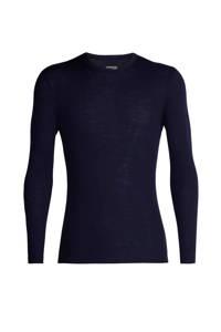 Icebreaker thermoshirt merinowol donkerblauw, Midnight navy