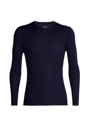 thermoshirt merinowol donkerblauw
