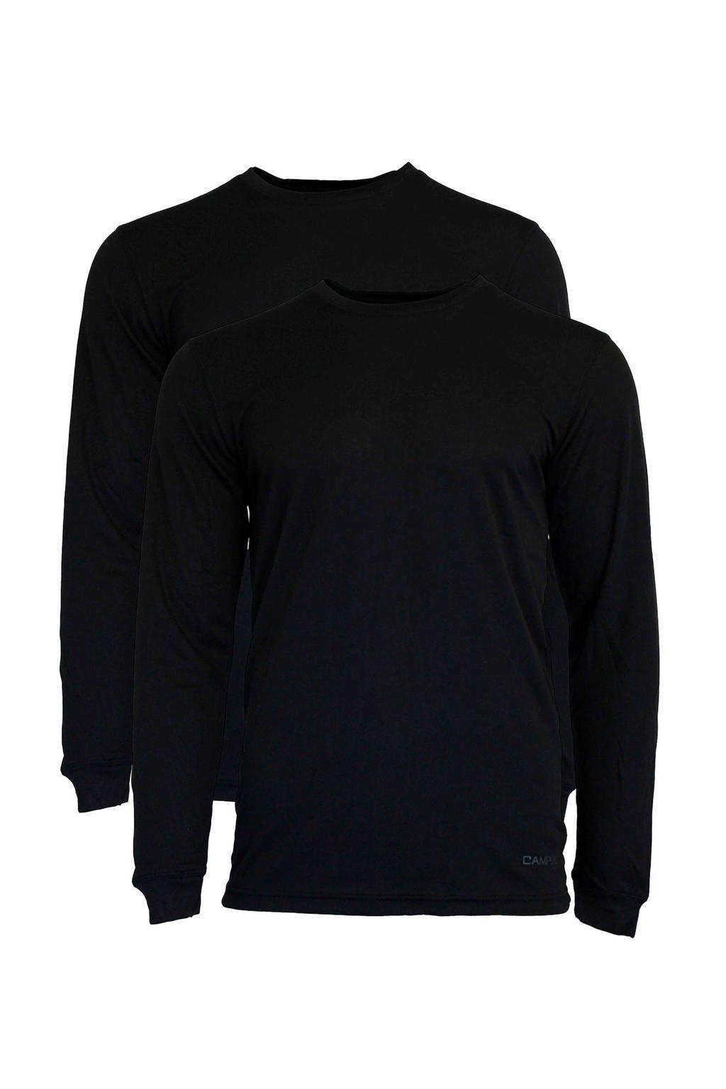 Campri thermo shirt (set van 2), Black