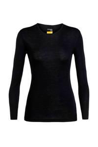 Icebreaker 175 thermoshirt merino zwart, Zwart