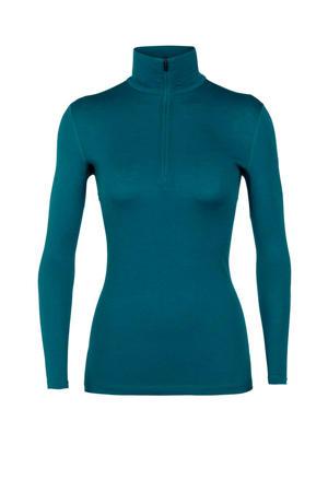 200 sport T-shirt merinowol blauw