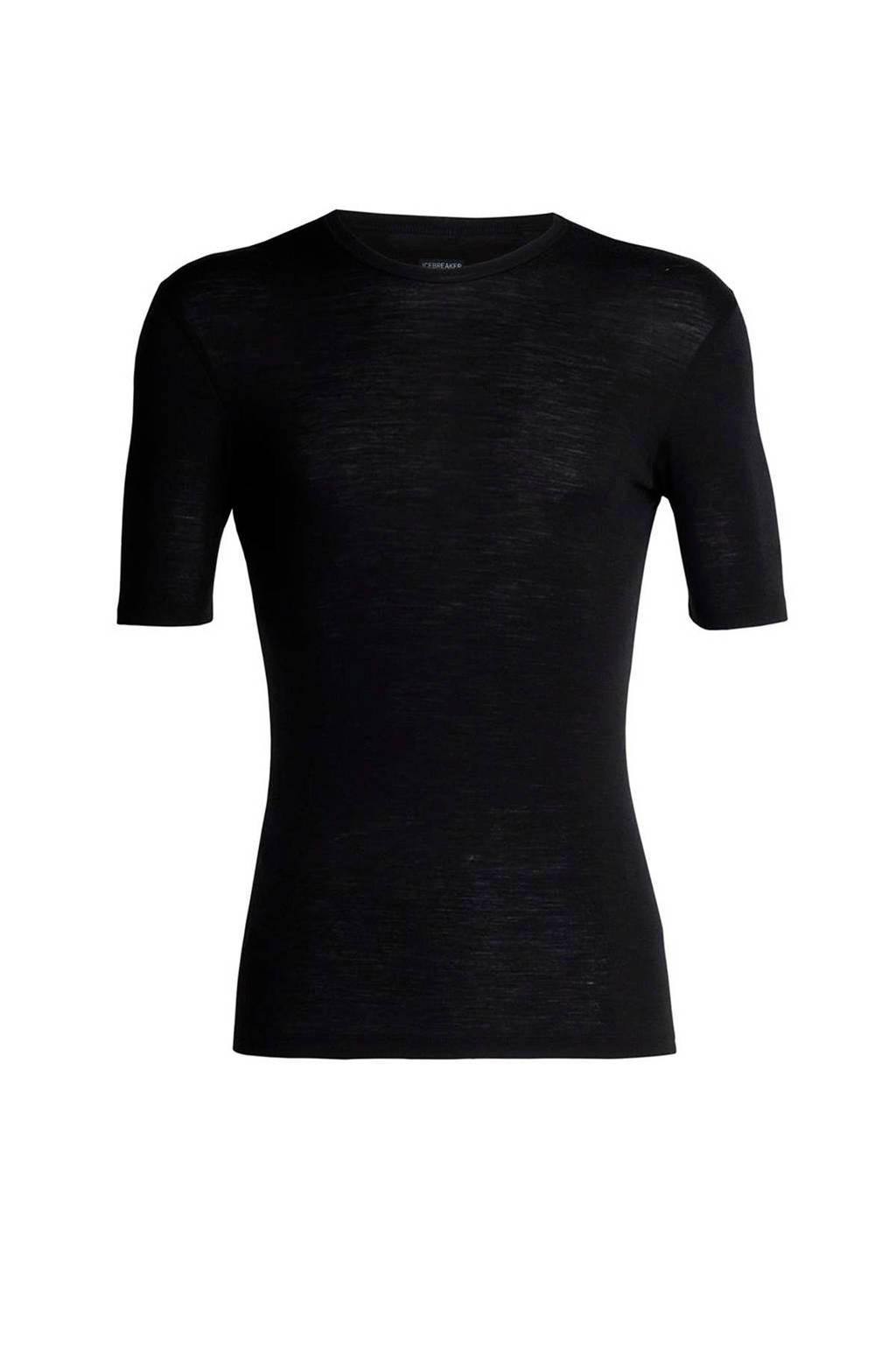 Icebreaker 175 thermoshirt merinowol zwart, Black