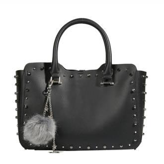handtas met studs zwart