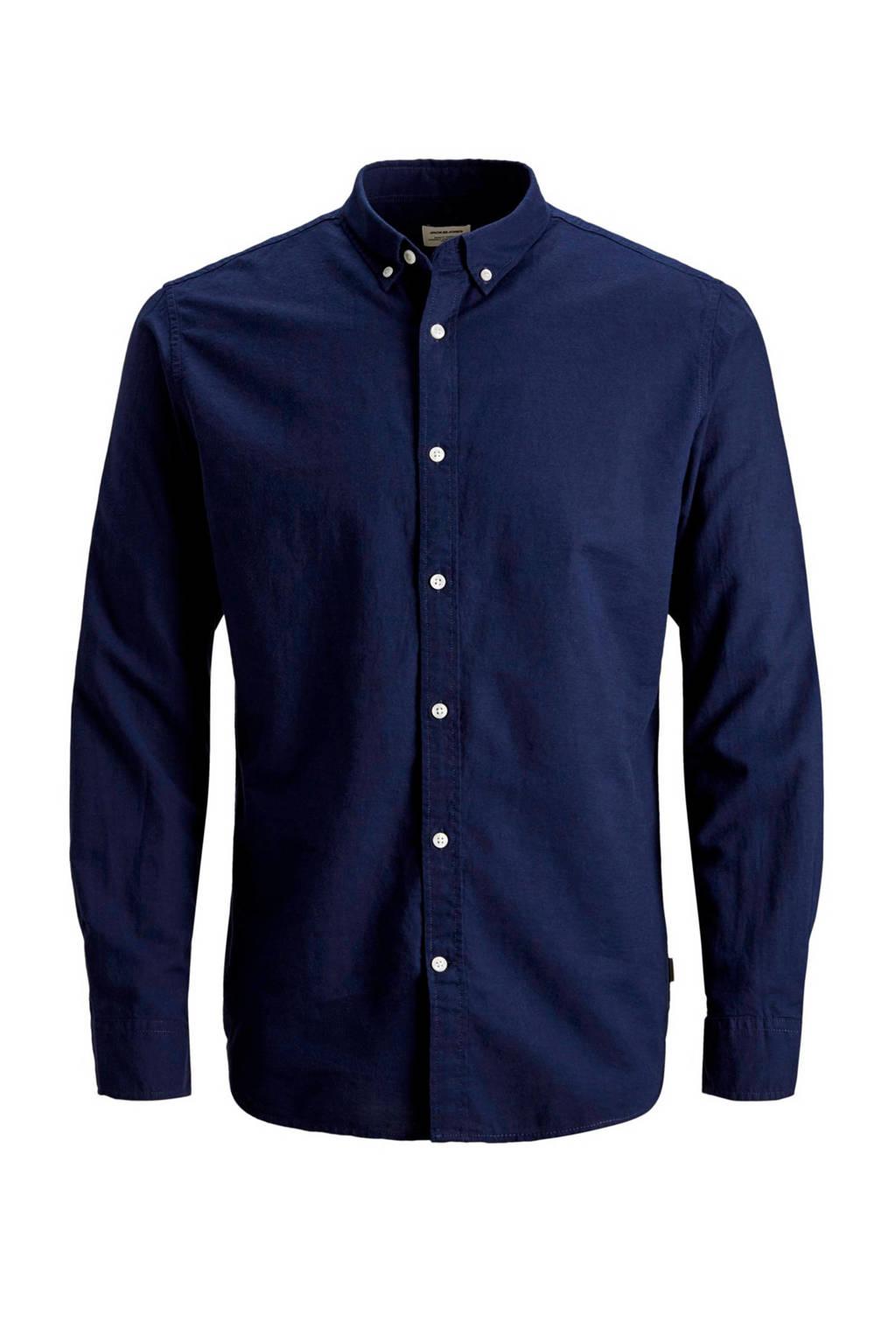Jack & Jones Essentials slim fit overhemd, Donkerblauw