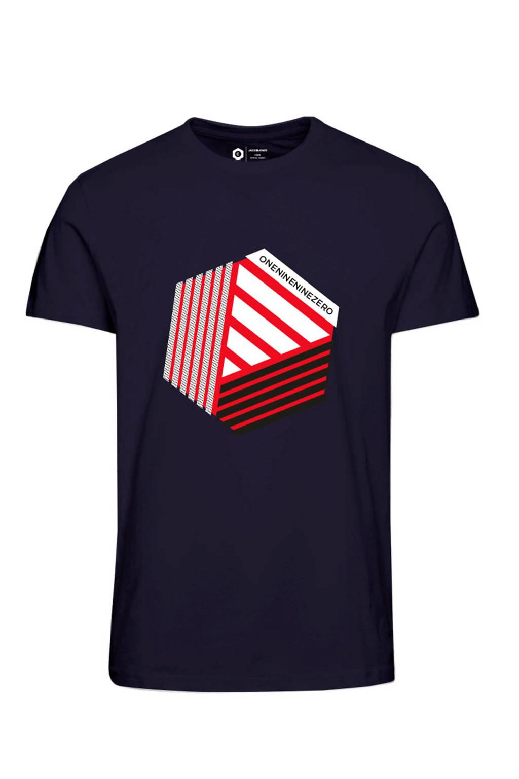 JACK & JONES CORE T-shirt met printopdruk, Marine