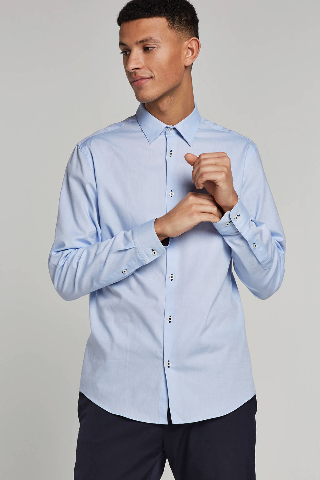 Jack & Jones Premium slim fit overhemd, Lichtblauw
