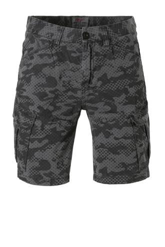 outdoor short met all over print grijs