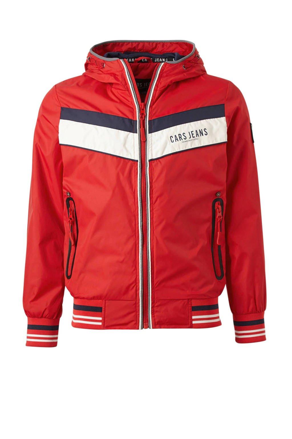 Cars zomerjas met capuchon Alzono rood, Rood