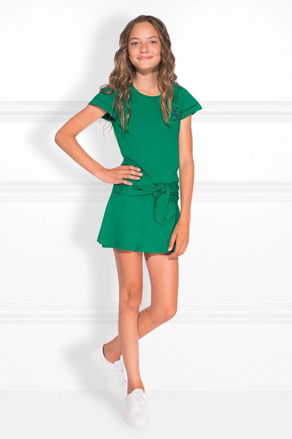 NIK&NIK jumpsuit met knoopdetail Fala groen, Groen