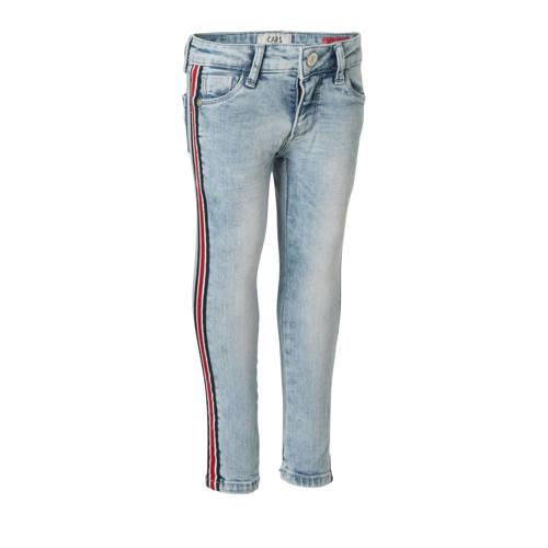 Cars skinny fit jeans Maurelle met zijbies lichtbl