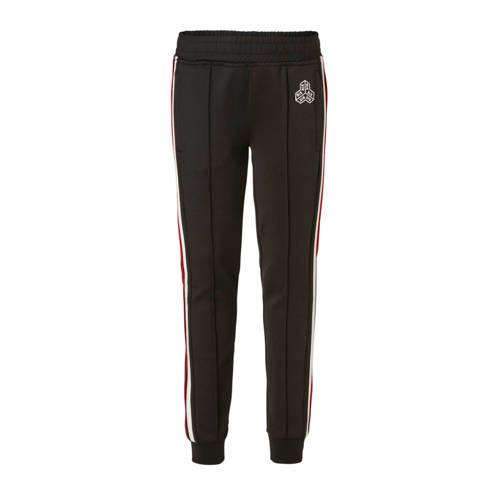 NIK&NIK broek met zijstreep Faris zwart kopen