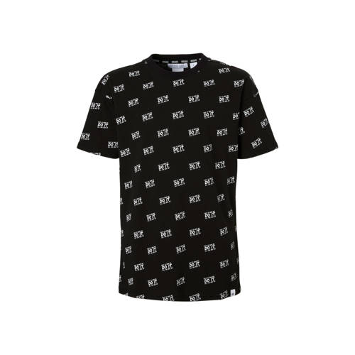NIK&NIK T-shirt Milan met all over print zwart kopen