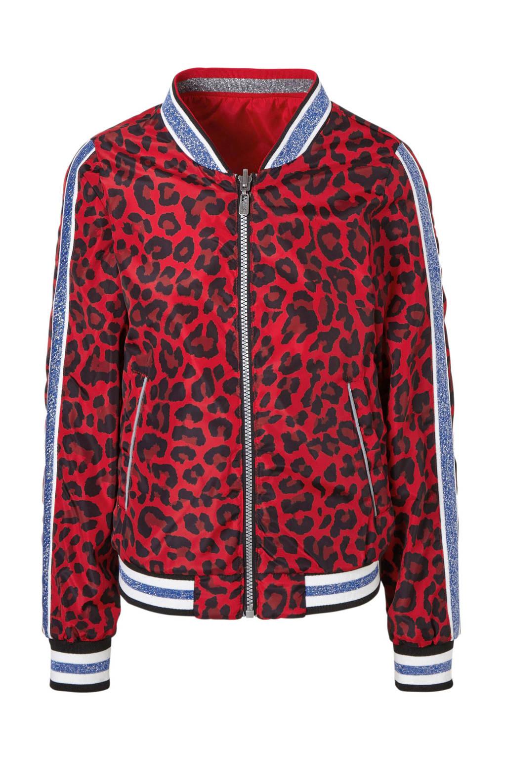 Cars reversible zomerjas met panterprint Valynn rood, Rood