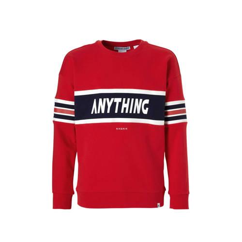 1848af72900 Nik En Niknik Sweater Anything Met Tekst Rood nik en nik kopen in de  aanbieding