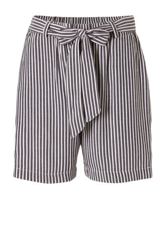 gestreepte regular fit short grijs/wit
