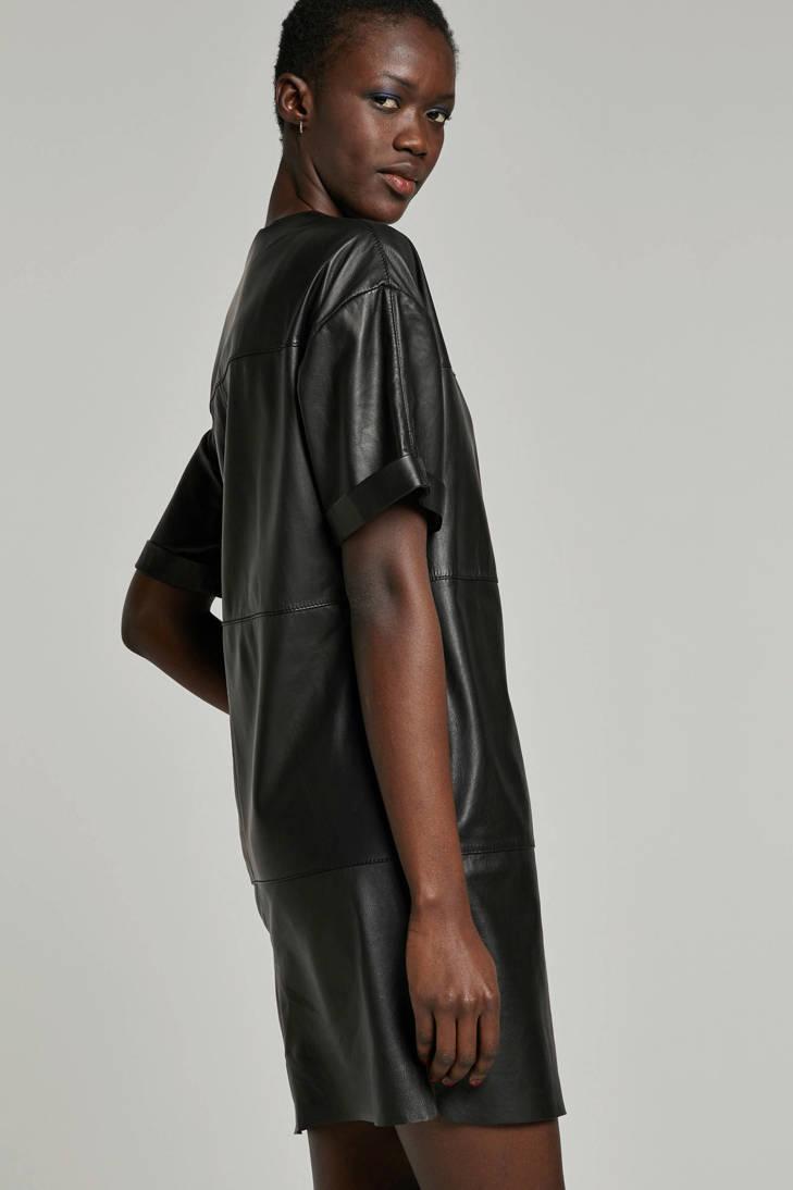 by zwart Studio jurk AR leren ARMA g77q4wUp