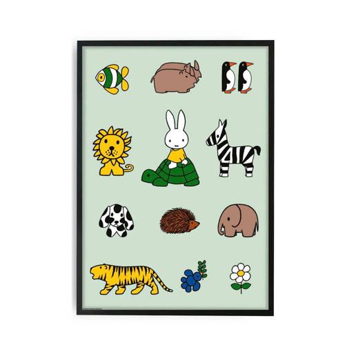 KEK Amsterdam Poster Nijntje met Dieren 59,4 x 42 cm