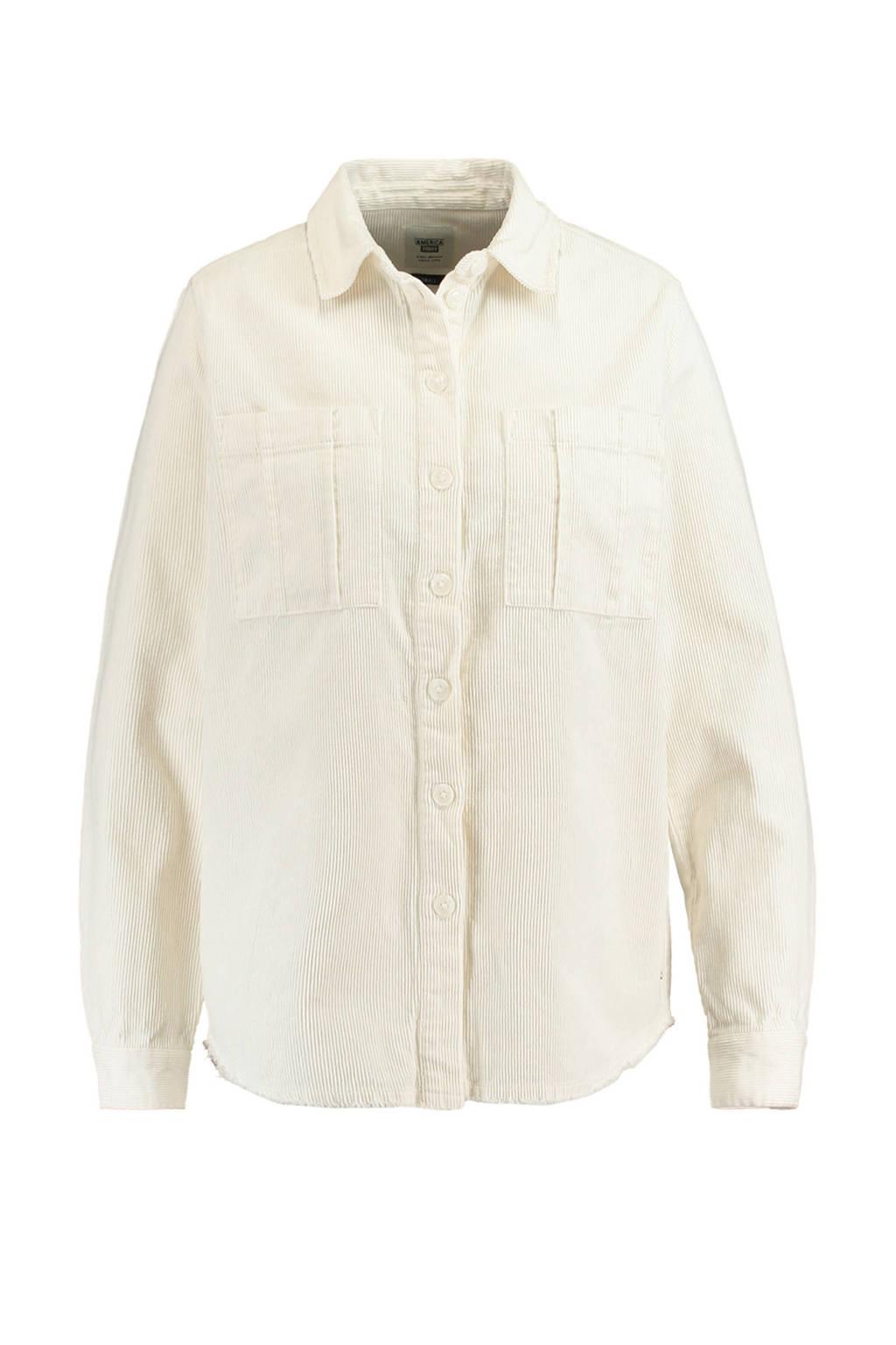 America Today corduroy blouse ecru, Ecru