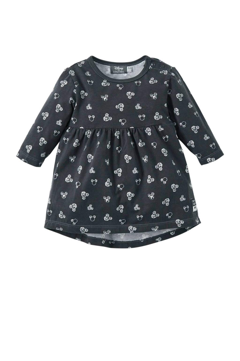 Zero2three newborn Mickey Mouse jurk grijs, Antraciet