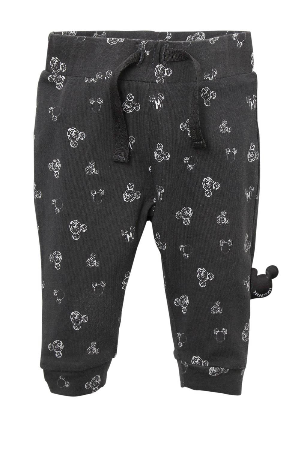 Zero2three newborn Mickey Mouse broek grijs, Antraciet