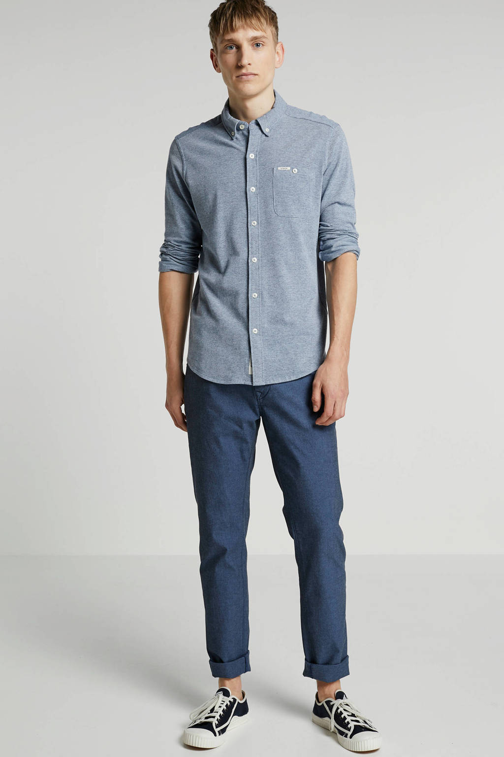 Vanguard slim fit broek, Blauw