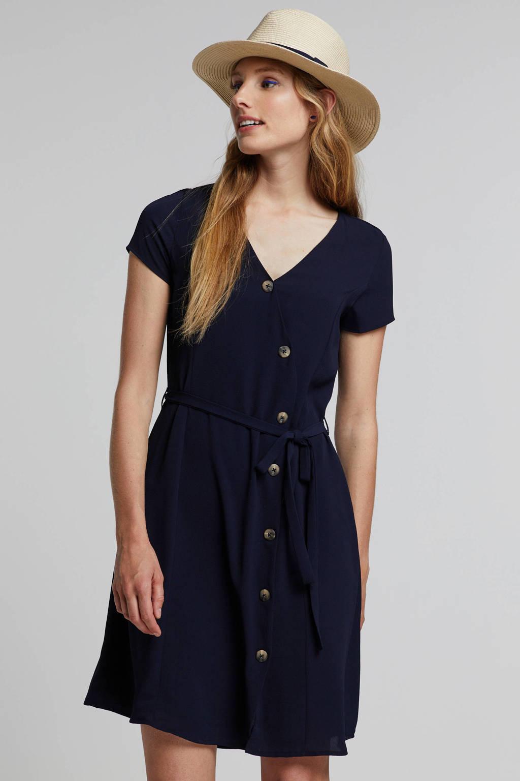 afc5298ee127fb VERO MODA jurk met knopen blauw