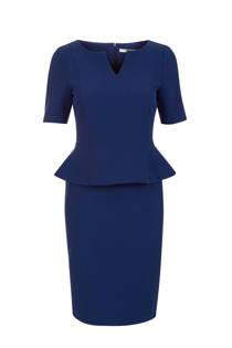 Steps jurk met volant donkerblauw
