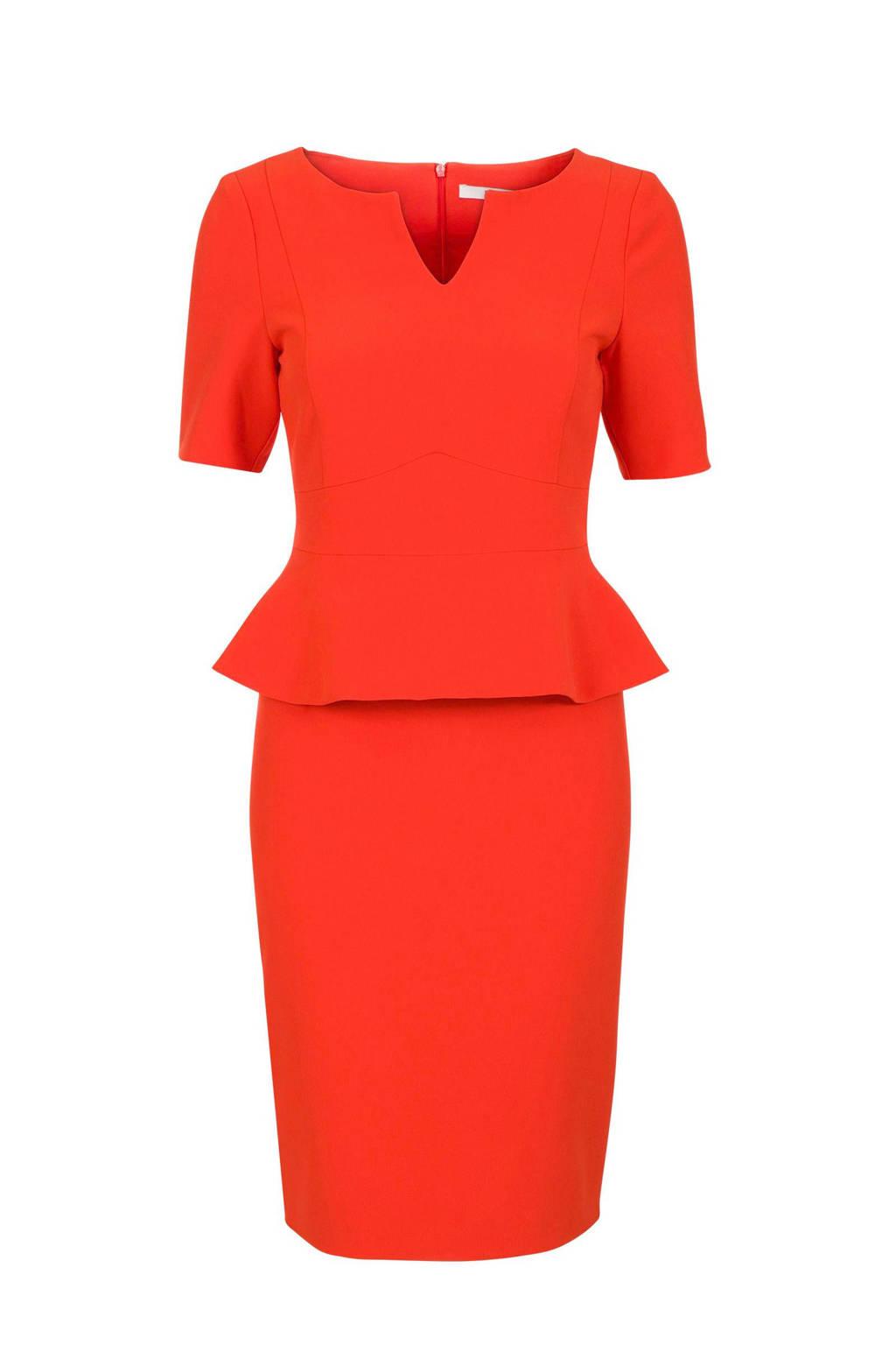 Steps jurk met volant rood, Rood