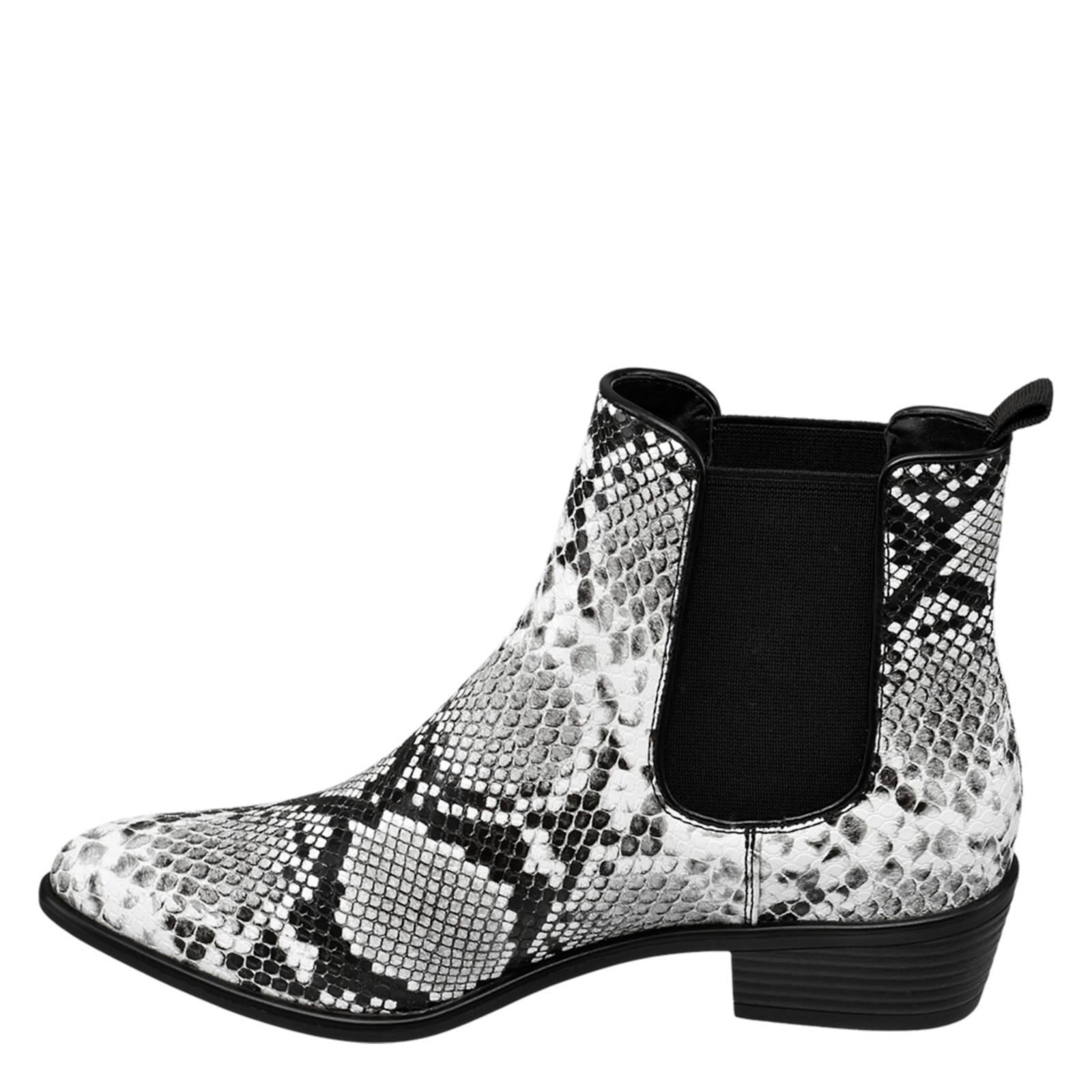 vanHaren Graceland chelsea boots met slangenprint | wehkamp