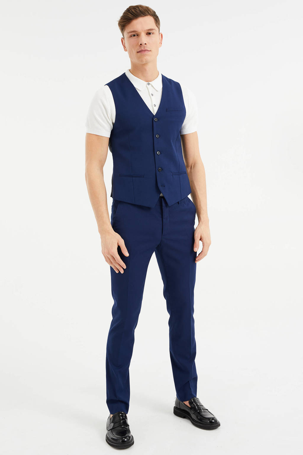 WE Fashion gilet, Donkerblauw