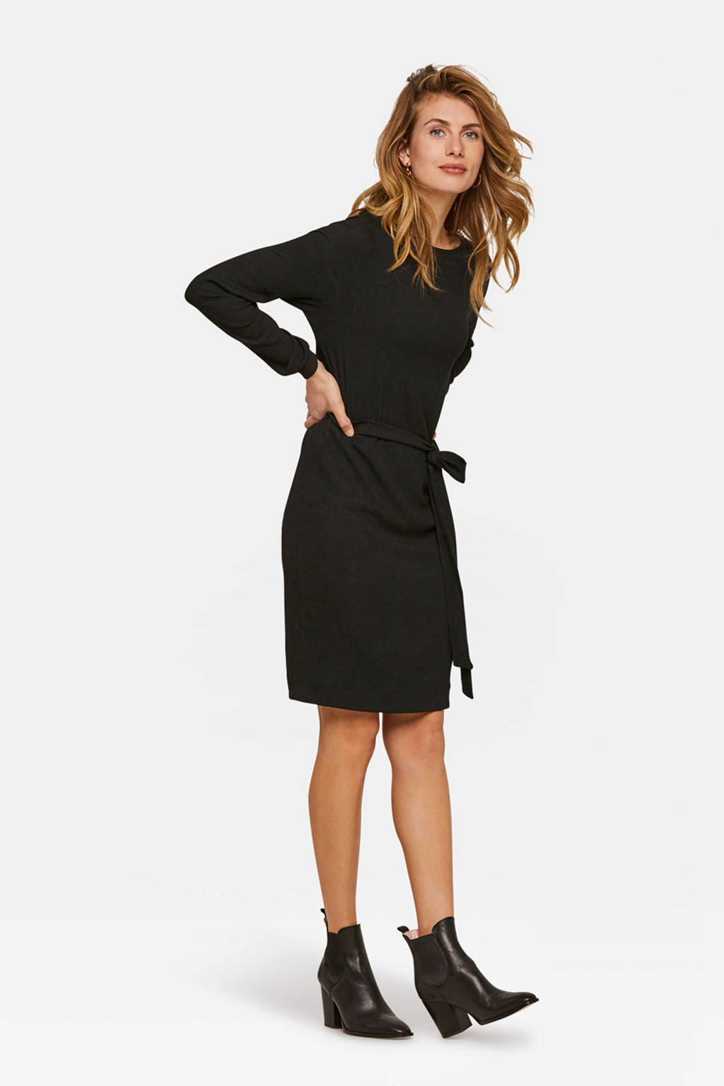 WE Fashion jurk zwart, Zwart
