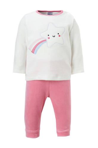 Baby Club velours pyjama met ster