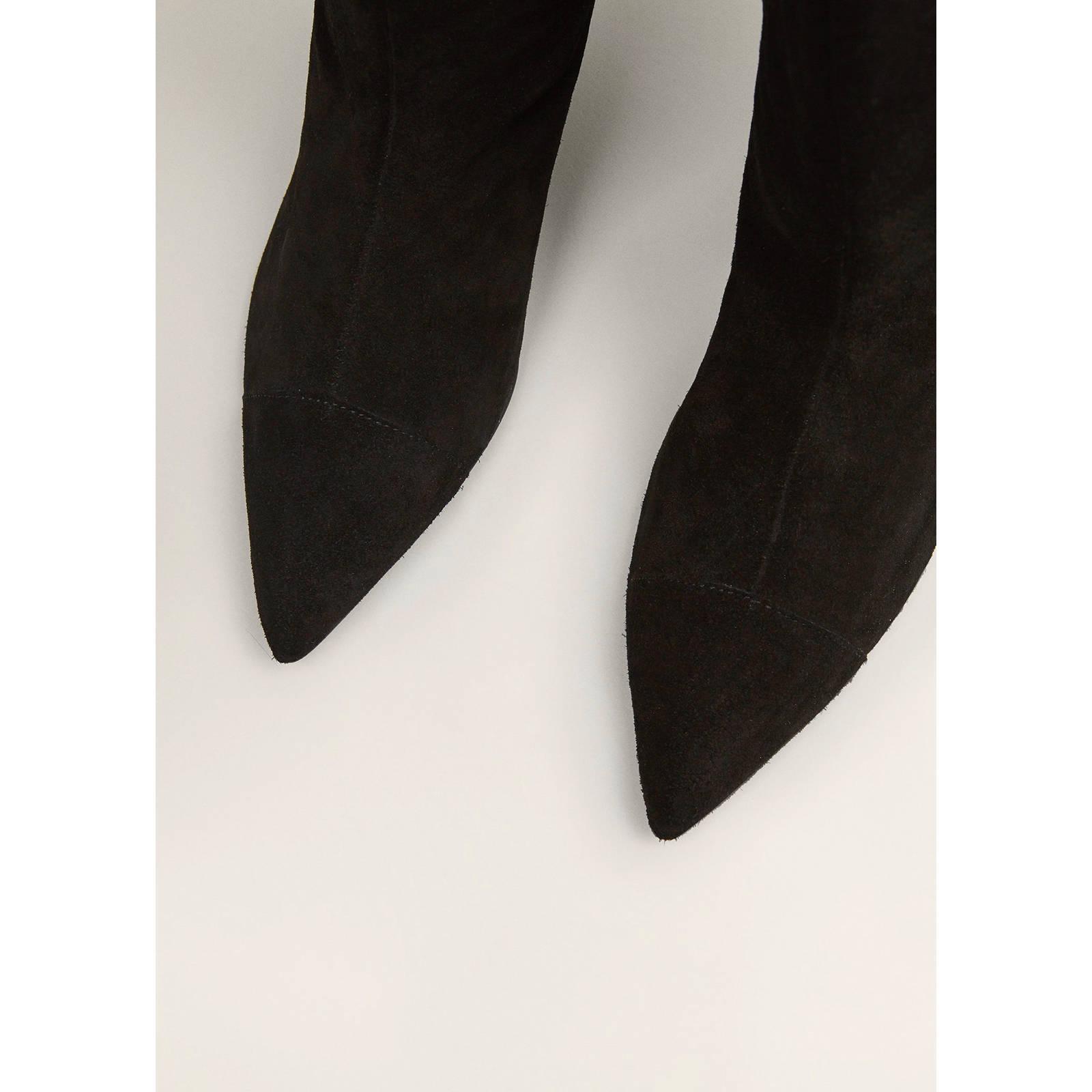 Mango suède laarzen zwart | wehkamp