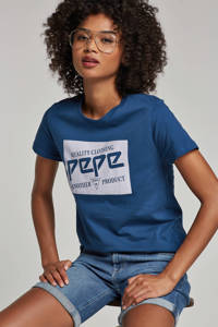 Pepe Jeans skinny fit short, Blauw