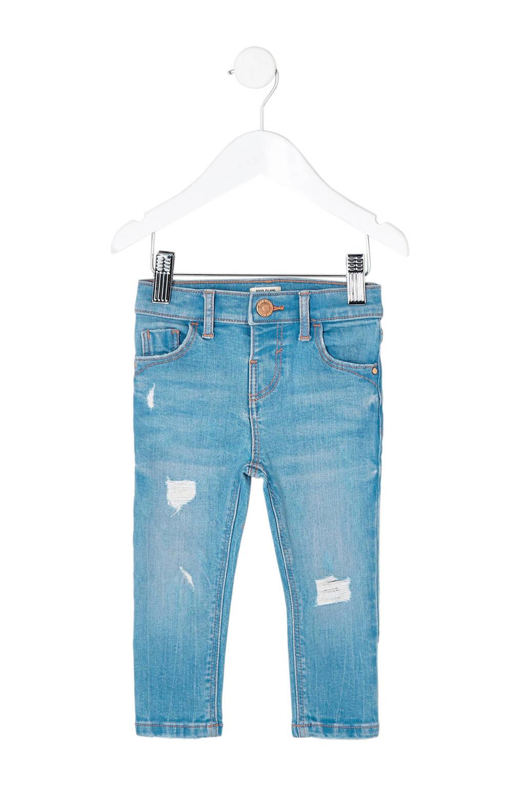 River Island skinny jeans Amelie met slijtage details, Stonewashed