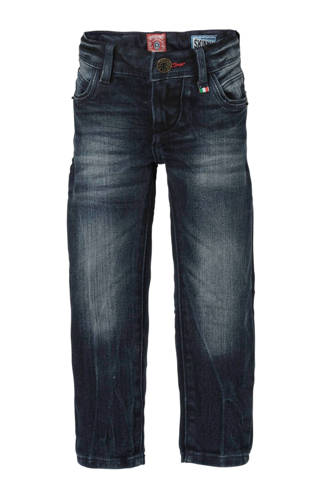 skinny fit jeans Aronne donkerblauw