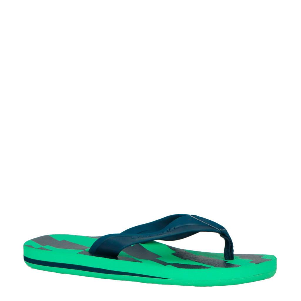 O'Neill   Imprint Pattern slippers blauw/groen, Blauw/groen