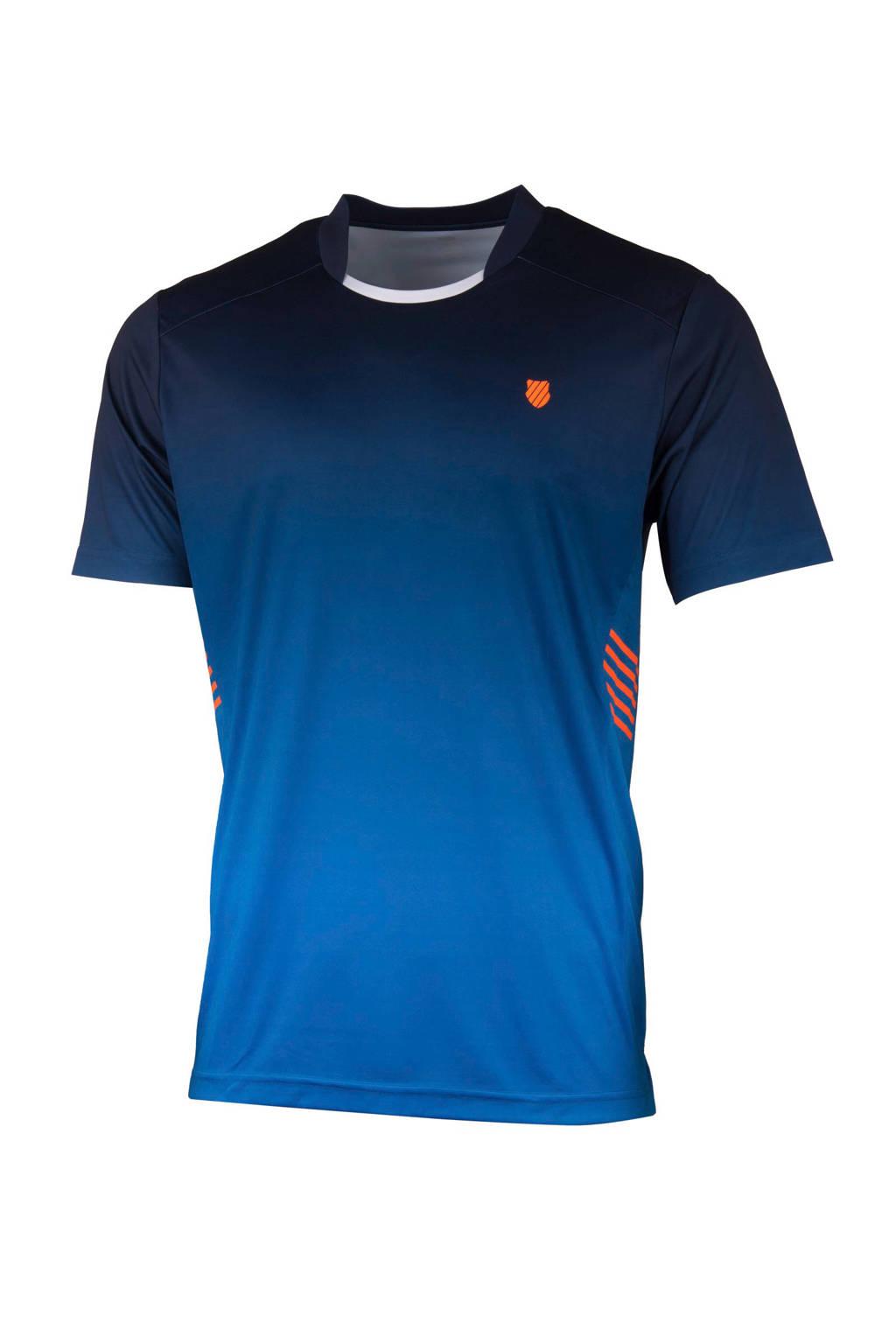 K-Swiss   sport T-shirt, Blauw/donkerblauw