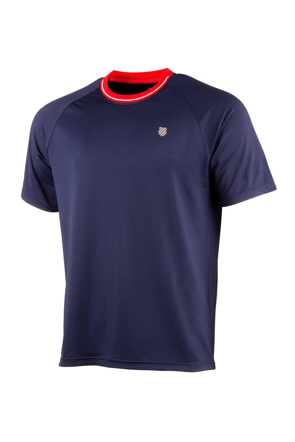 K-Swiss   sport T-shirt donkerblauw, Donkerblauw