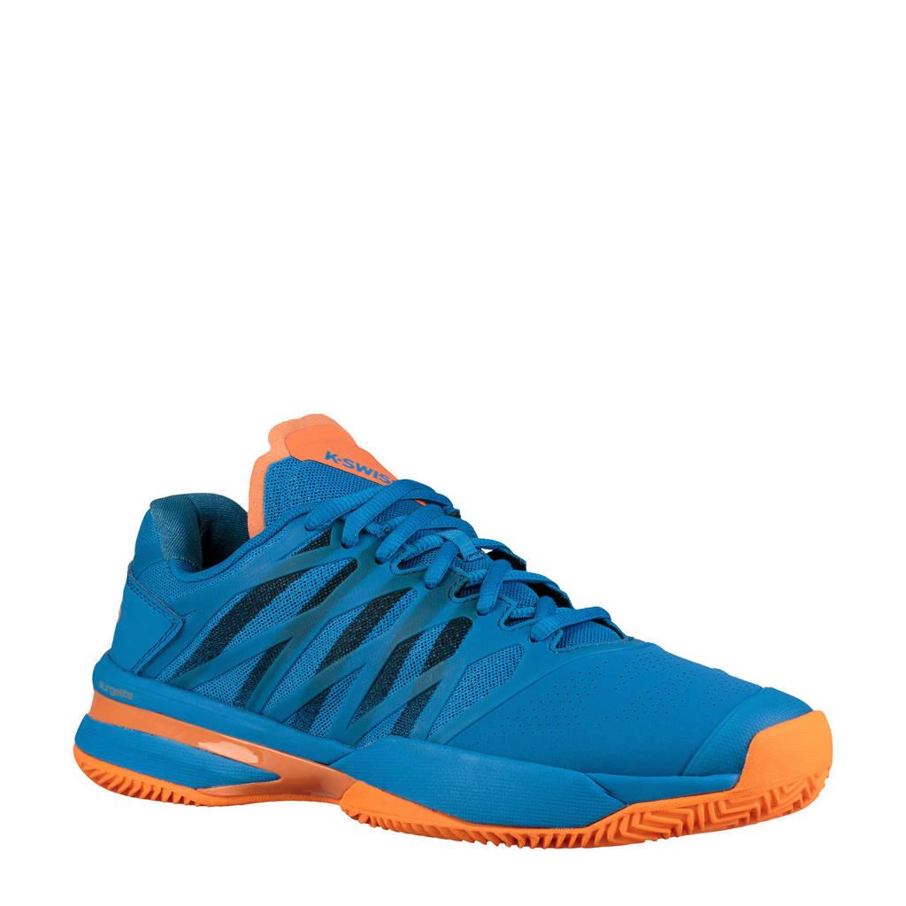 K-Swiss   Ultrashot HB tennisschoenen, blauw/donkerblauw/oranje