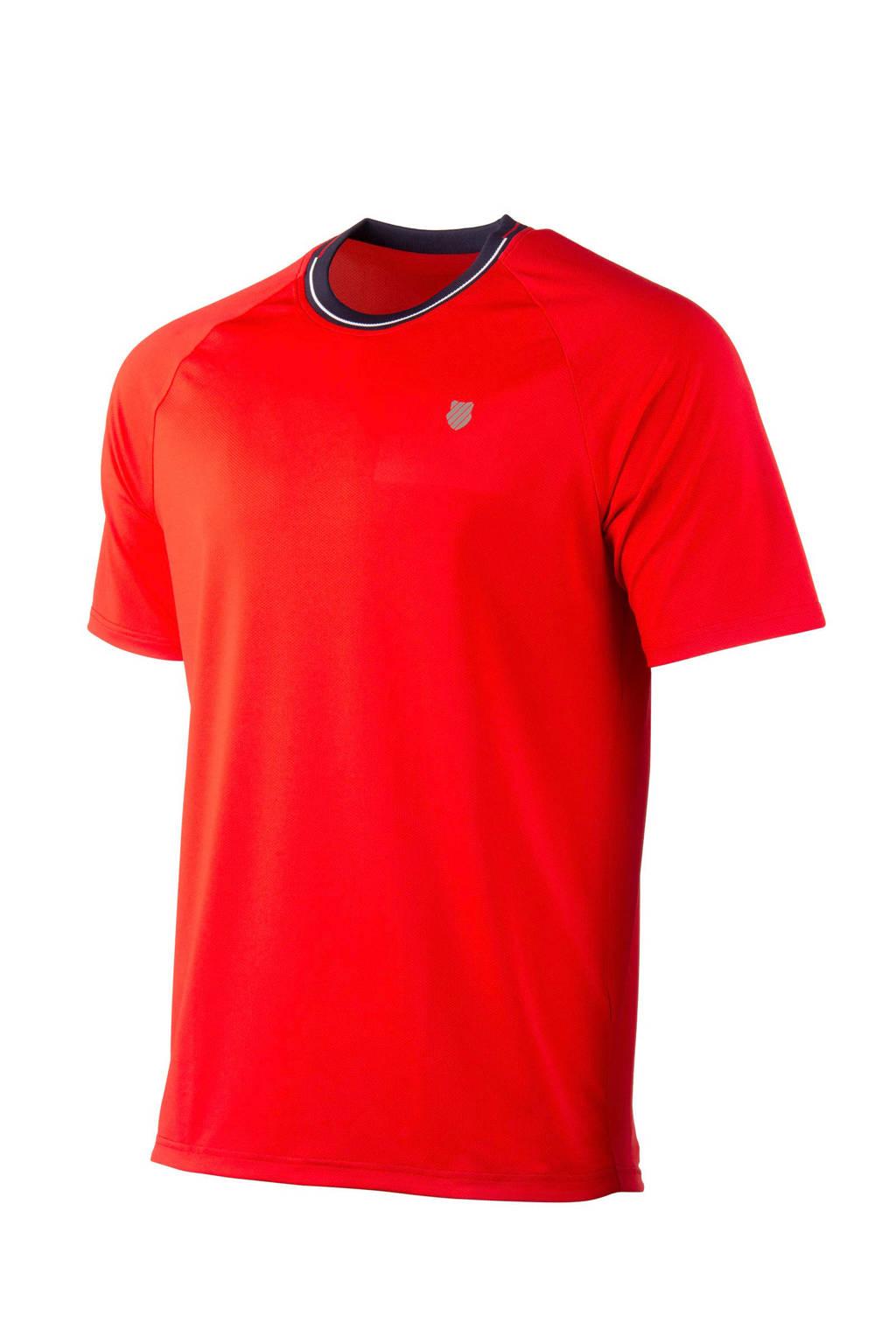 K-Swiss   sport T-shirt rood, Rood