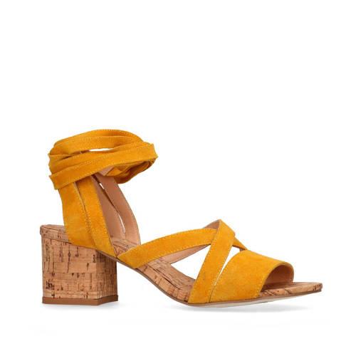 SPM for Sacha suède sandalettes okergeel
