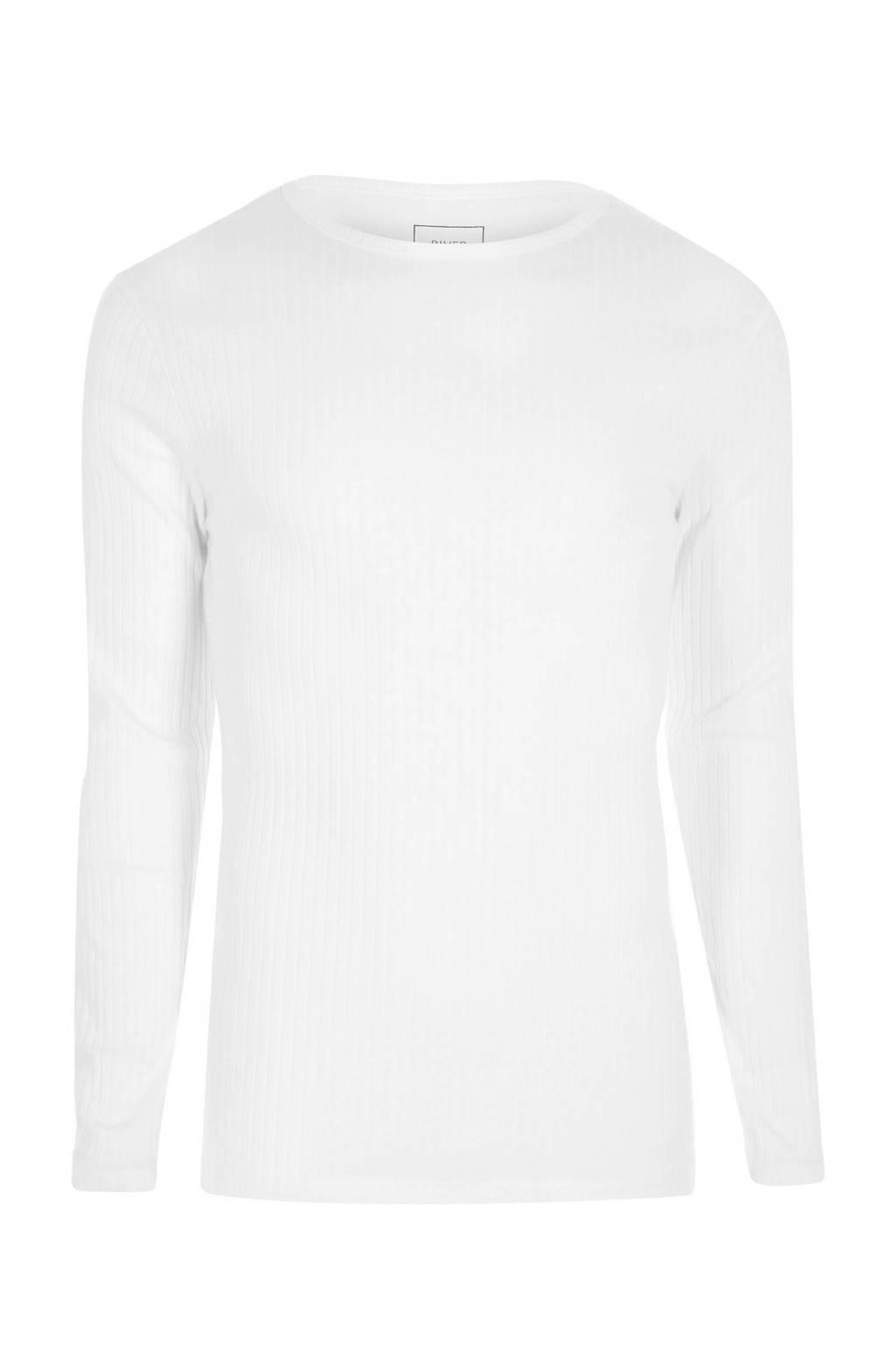 River Island T-shirt lange mouw, Wit