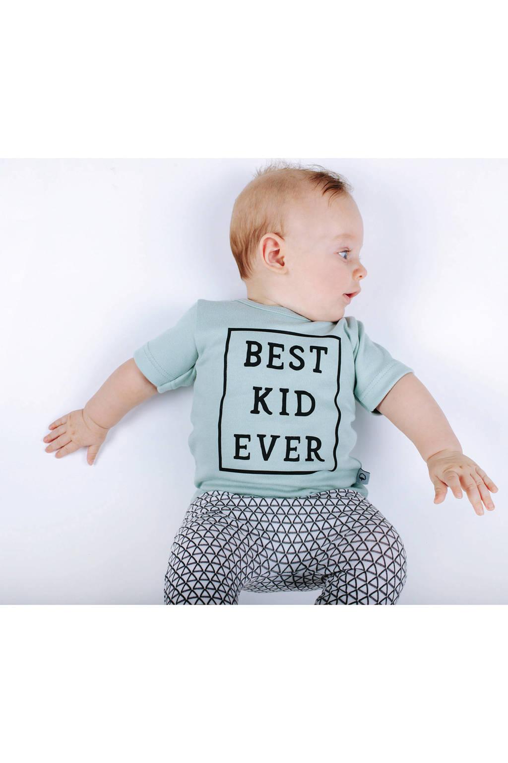 WOODEN baby broek met all over print wit/zwart, Wit/zwart