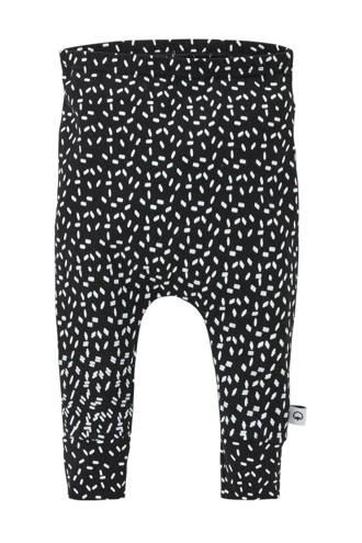 baby broek met all over print zwart