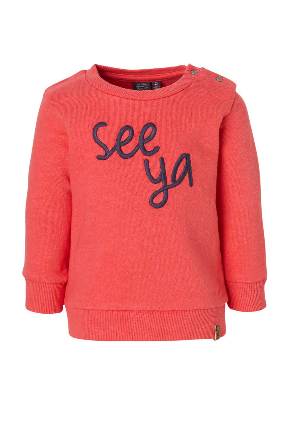 Babyface sweater met tekst rood, Oudrood