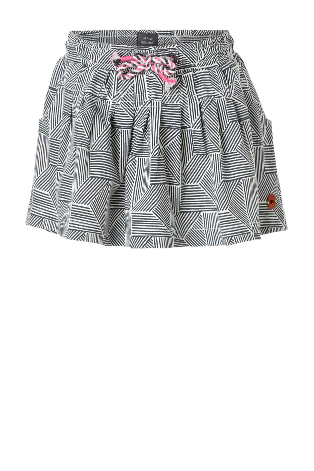 Babyface rok met grafische print grijs, Grijs/wit