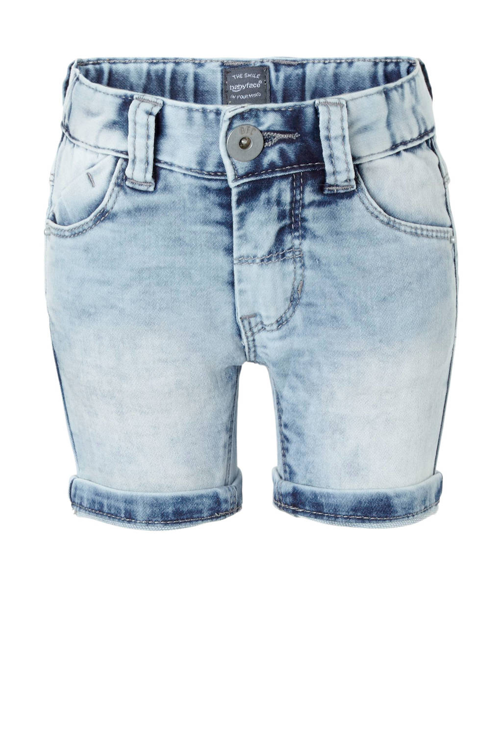 Babyface slim fit jeans bermuda, Light denim